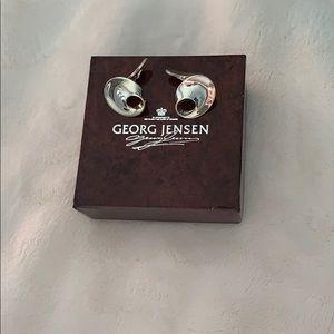 Georg Jensen Sterling Silver Men's Cuff Links